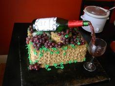Wine Bridal Shower cake By whspr2ghst on CakeCentral.com