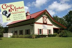 Cahill's Market, Bluffton SC. A farm that grows their own produce and has their own livestock. You can buy their goods or eat at their farm to table restaurant.
