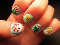 Mario nails <3