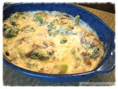 Creamy Broccoli and Mushrooms - Low Carb