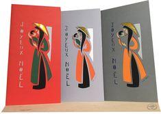 cartes de Noël découpées main Illustration, Vietnam, Ethnic, Scene, Concept, Brittany, Manta Ray, Sailor Theme, Atelier