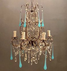 Excited to share this item from my #etsy shop: Beautiful Rare Vintage Italian Crystal Beaded Opaline Blue Chandelier, Antique Crystal Beaded Swag Chandelier Light, Free Shipping USA #blue #bedroom #swagchandelier #periodchandelier #freeshippingusa #theenglishsisters #italianlighting #muranochandelier