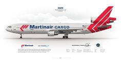 McDonnell Douglas MD-11 Martinair Holland PH-MCP | www.aviaposter.com | Civil aircraft art print | #scetch #art #airliners #aviation #aviaposter #jetliner #md11 #martinair