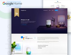 Google Home Landing Page Concept