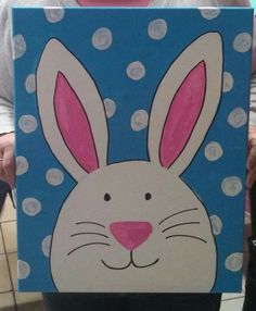 Easter bunny canvas painting | Paint For Fun | Pinterest