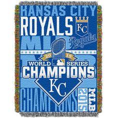 Kansas City Royals 2015 World Series Champions 48x60 Tapestry Throw Typography - MLB.com Shop