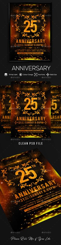 Club Flyer New Year Flyer template, Party flyer and Template - anniversary flyer