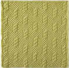 Knitterati Gradient Lapghan Block 1 by Faina Goberstein using Cascade Yarns® 220 Superwash® Merino. Woven Stamen slip-stitch pattern as a background with small cables in checks order.