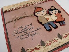My Craft Spot: Winter Frolic - Window top card! with Ribbons and Rosettes for the borders