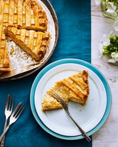 Think creamy, zesty rice pudding, made with a good splash of rum, encased in golden pastry and you've Emma Marijewycz's take on traditional Italian ricotta tart.