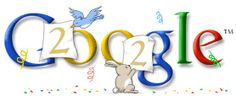 Google Doodle: New Year's Day 2002