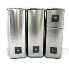 Superieur Vintage Stainless Steel Canister Set