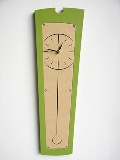 modern wood clock by uncommon on Etsy. , via Etsy.