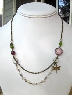 Custom Bridesmaid Necklaces  your wedding colors by botanicalbird, $130.00