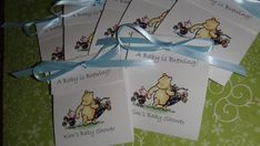 Winnie the Pooh Baby Shower tea favors.