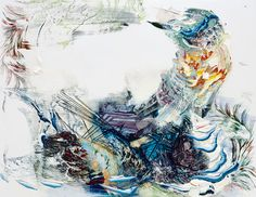 Pia Fries |vessel 2011( Oil and silkscreen on wood, 84 x 110 cm) part of her seewärts collection.