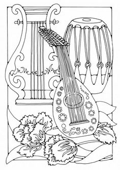 musical instruments coloring pages Musical Instrument Coloring Pages Print Out Coloring Home. They can be a great teaching opportunity for children's motor skill, cognitive development and moral upbringing. Free Coloring Sheets, Adult Coloring Book Pages, Animal Coloring Pages, Colouring Pages, Printable Coloring Pages, Coloring Books, Mandala Coloring, Unique Image, Line Drawing