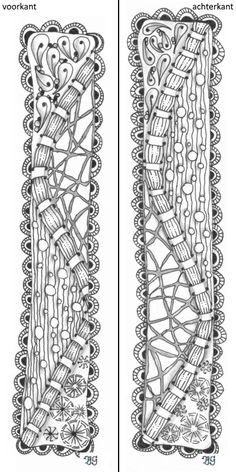 bladwijzer 3 Zentangle, Bookmarks, Diamond, Jewelry, Home Decor, Jewlery, Decoration Home, Zentangle Patterns, Jewerly
