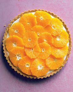 orange and yogurt tart