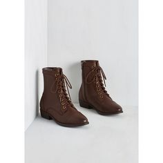 Military Trek Yourself Boot ($60) via Polyvore featuring shoes, boots, vegan shoes, lace up boots, vegan leather boots, military style boots and laced up boots