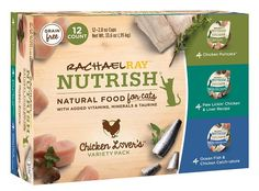 Food is love. That's why every Nutrish recipe features simple, natural ingredients that your pet will love to eat. The Chicken Lovers Variety Pack is chock-full of real protein like tender shredded white meat chicken and tender chunks of ocean fish, which provides essential nutrients and amino acids to support lean muscle mass and healthy organs. Each recipe is doused in a scrumptious sauce that your cat will want to gobble up, and is free of major allergy triggers.