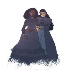 Angelica noticing that it's quiet uptown too - Hamilton art by Kiki Hughes: