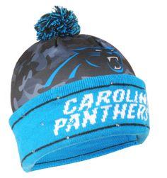 Carolina Panthers NAME  amp  Logo NFL Camouflage Light Up Winter Beanie  Knit Cap  ForeverCollectibles 6fcb6e826