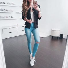 40 Best School Outfits For Teen Girls to Look Cool - Artbrid - Teenager Outfits, Outfits For Teens, Fall Outfits, Summer Outfits, Summer Clothes, Cute Casual Outfits, Simple Outfits, Look Fashion, Teen Fashion