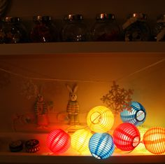 paper lantern lights Paper Lantern Lights, Paper Lanterns, Orange Yellow, Red Green, Spa Party, Fabric Storage, Sewing Studio, Be Kind To Yourself, Some Fun