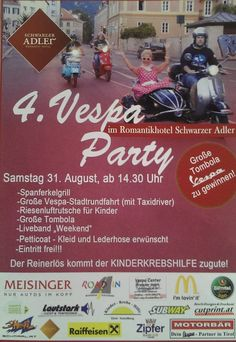 4. Vespa Party Live Band, Vespa, August 2013, Event Ticket, Party, Eagles, Black Man, Wasp, Hornet