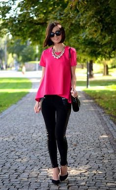 Fuchsia Chiffon A-line Blouse  # #Daisyline #Summer/Pre Fall Trends #It-Girl #Best Of Summer/Pre Fall Apparel #Blouse A-Line #A-Line Blouses #A-Line Blouse Fuchsia #A-Line Blouse Chiffon #A-Line Blouse Clothing #A-Line Blouse 2014 #A-Line Blouse Apparel #A-Line Blouse How To Style