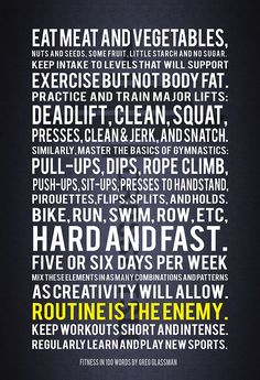 Fitness in 100 words by Greg Glassman, founder of CrossFit