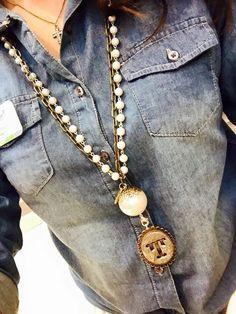 Women's latest fashion... Plunder Design Jane Necklace with our Allison Pendant. ( women jewelry accessories vintage pendants ) https://www.facebook.com/groups/HeathersPlunderDesign/