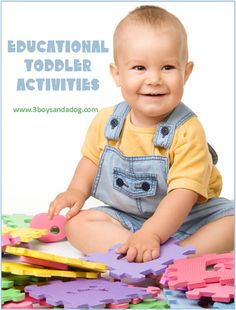 Educational Toddler Activities for Homeschoolers - http://3boysandadog.com/2013/07/educational-toddler-activities-for-homeschoolers/