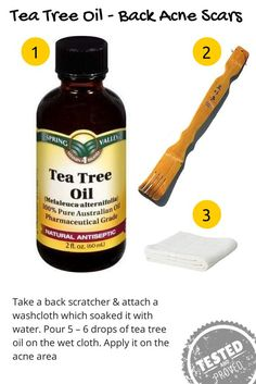 Does Tea Tree Oil Work for Acne Scars?  Research indicates that tea tree oil lightens acne scars and scars from injuries without causing unwanted side effects.