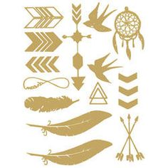 Metallic Boho Temporary Tattoos