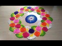 Diy Decorations New Year Crafts 35 Ideas Happy Diwali Rangoli, Diwali Special Rangoli Design, Easy Rangoli Designs Diwali, Indian Rangoli Designs, Rangoli Designs Latest, Rangoli Designs Flower, Rangoli Patterns, Small Rangoli Design, Rangoli Ideas