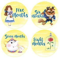 Baby Monthly Stickers, Set of Baby Milestone Stickers, Baby Sticker, Baby Bodysuit Sticker, Baby Shower Gift Photo Prop Beauty and the Beast Baby Month Stickers, First Haircut, First Tooth, Babies First Year, Baby Milestones, Baby Shirts, Transparent Stickers, Baby Month By Month, Sticker Paper