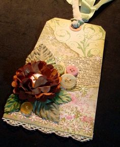 Lovely shabby chic gift tag