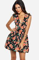 Rose Cutout Dress
