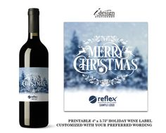 Corporate Holiday Wine Labels With Company Logo By iDesignStationery On Etsy. See Our Other Business Wines Here: http://etsy.me/2fBa1S6