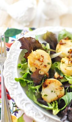 Blushing as I read Shades of Grey...oh, back to the Sauteed Scallops - simple to make but special too! by Jennifer Leal @savorthethmye
