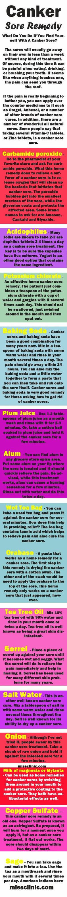 Quick #Remedies for #Canker #Sore #missclinic
