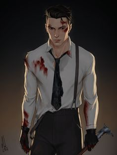 """merwild: """"Kaz fucking Brekker! Just read one hell of a good scene in Crooked Kingdom today and I couldn't wait to draw it. I had to draw it today! Kaz just reached a new level of wow! (ps: I'm not..."""