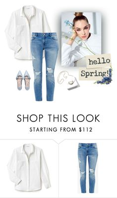 """""""Denim&white"""" by natalie-r-k on Polyvore featuring moda, Lacoste, Ted Baker i Miu Miu"""