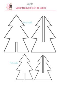 DIY Origami Christmas Trees Craft Tutorial from Birds Party - These are absolutely cute as they can be! Diy For Kids, Crafts For Kids, Christmas Fun, Christmas Ornaments, Origami Christmas, Cardboard Christmas Tree, Natal Diy, Xmas Decorations, Xmas Tree