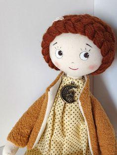 Fabric doll / Коллекционные куклы ручной работы. Ярмарка Мастеров - ручная работа. Купить Кукла Азалия. Handmade. Коричневый, подарок
