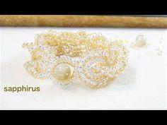 (3) 【ハンドメイド】How to make an elegant beaded bracelet (Eng Sub) シードビーズで編むブレスレットの作り方 ビーズステッチ - YouTube