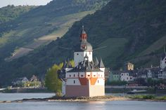 Castle in the Rhine River.... on both of my trips to Germany I took a scenic boat ride on the Rhine River...bb