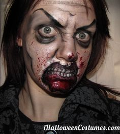 zombie makeup - Halloween Costumes 2013 LMM NICE CHARACTERIZED CONTOURS